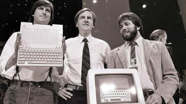 Fundadores da Apple: Steve Jobs, Ronald Wayne e Steve Wozniak