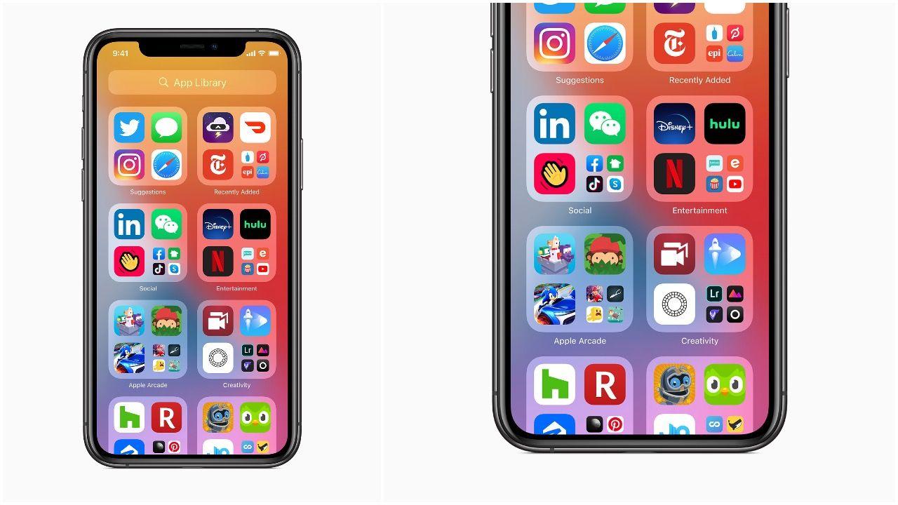 Biblioteca de Aplicações no iPhone com iOS 14