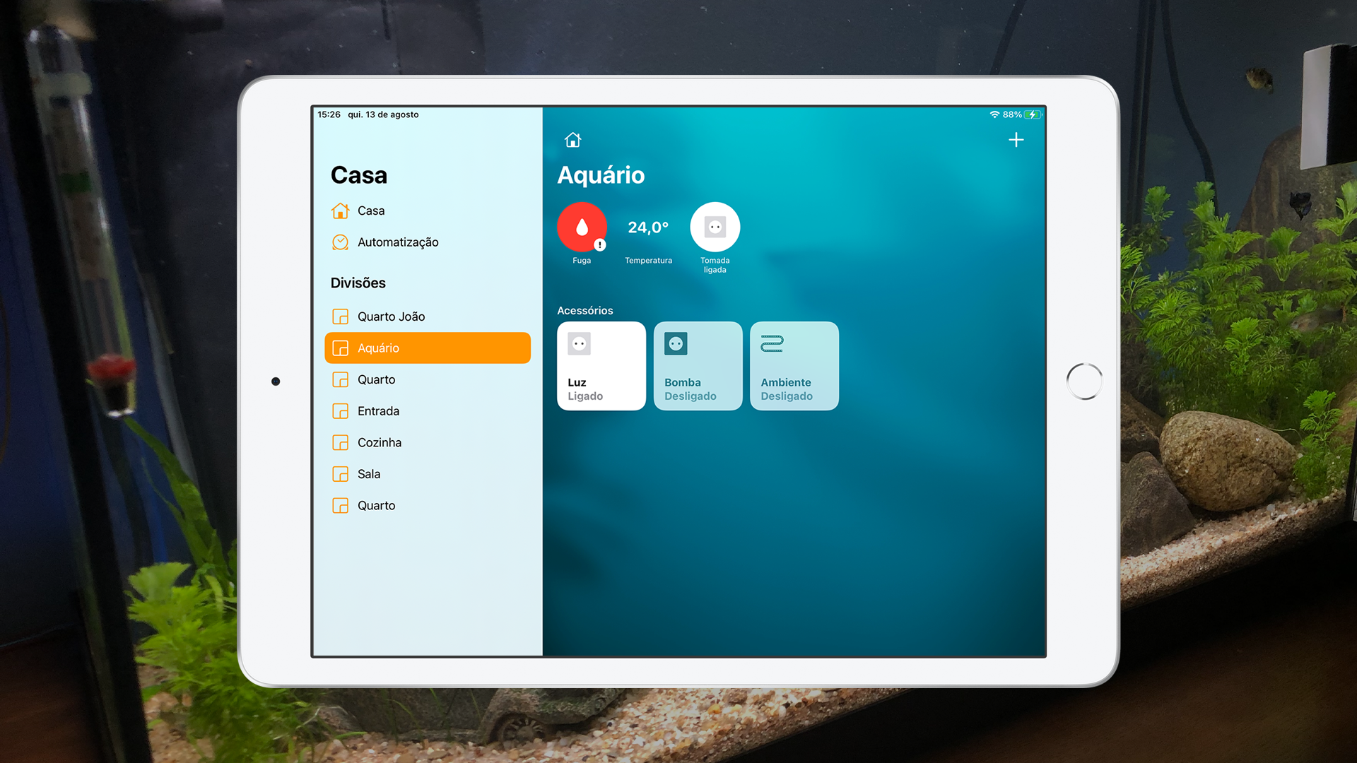 Aplicação Casa no iPadOS