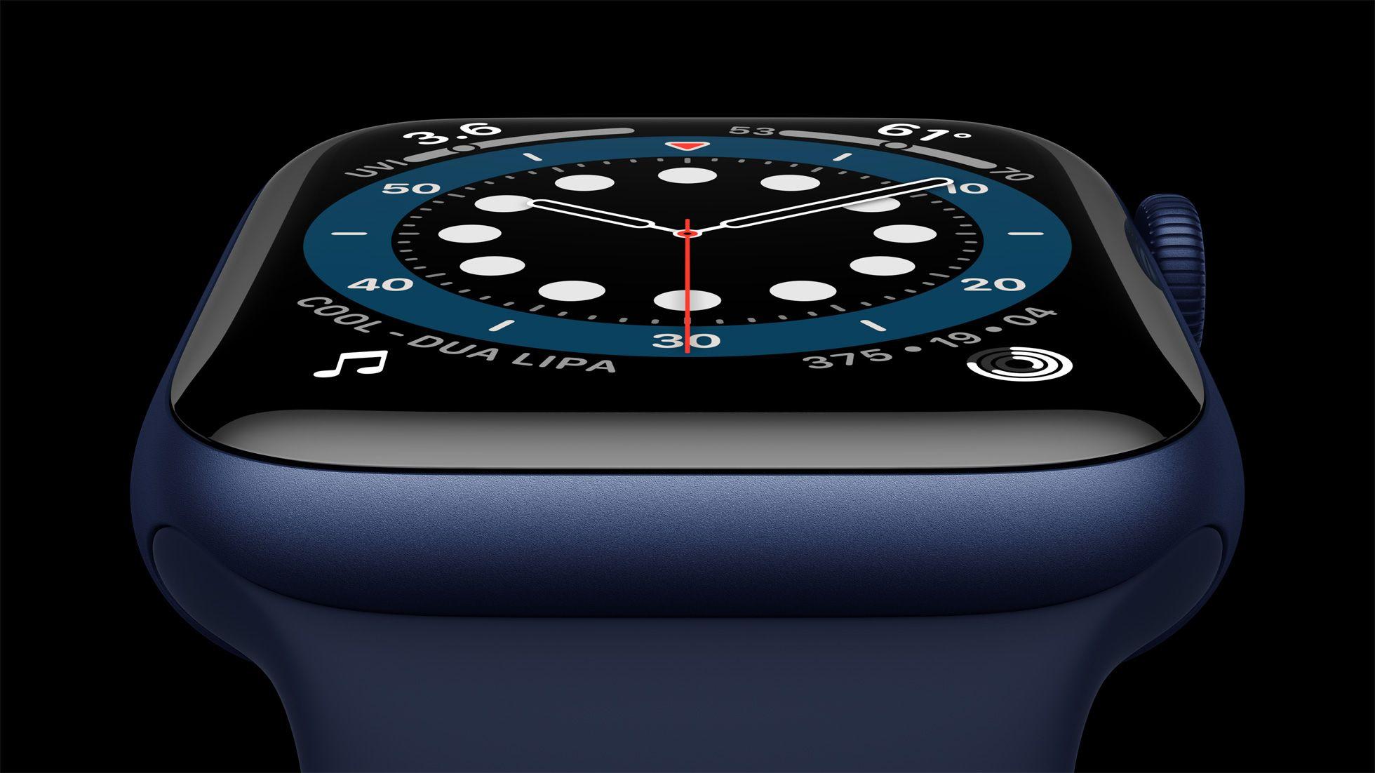 Apple Watch Series 6 em alumínio azul