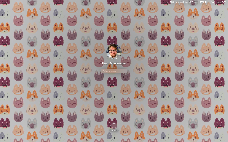 Ecrã de bloqueio do macOS
