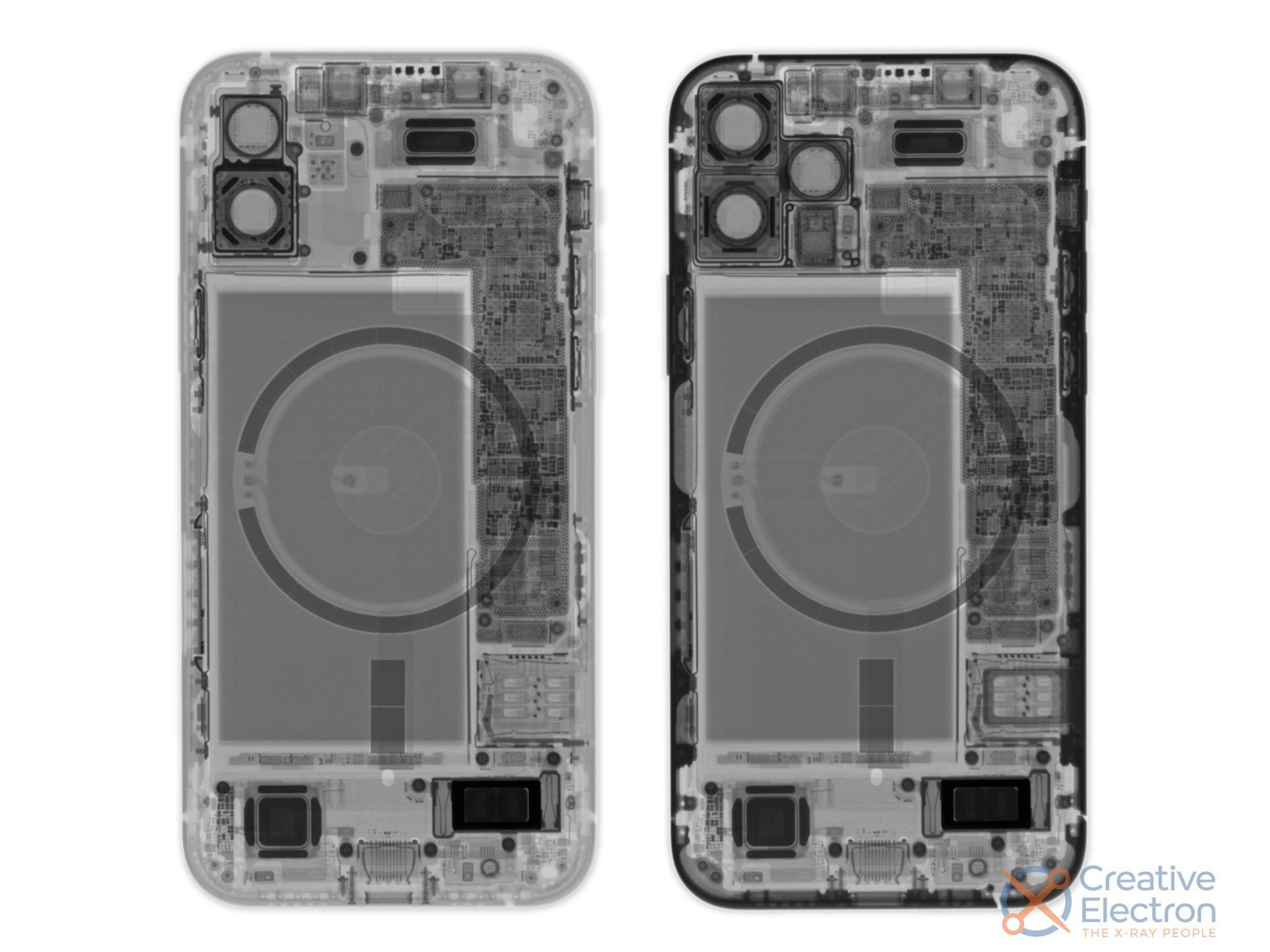 iPhone 12 à esquerda e iPhone 12 Pro à direita - Creative Electron