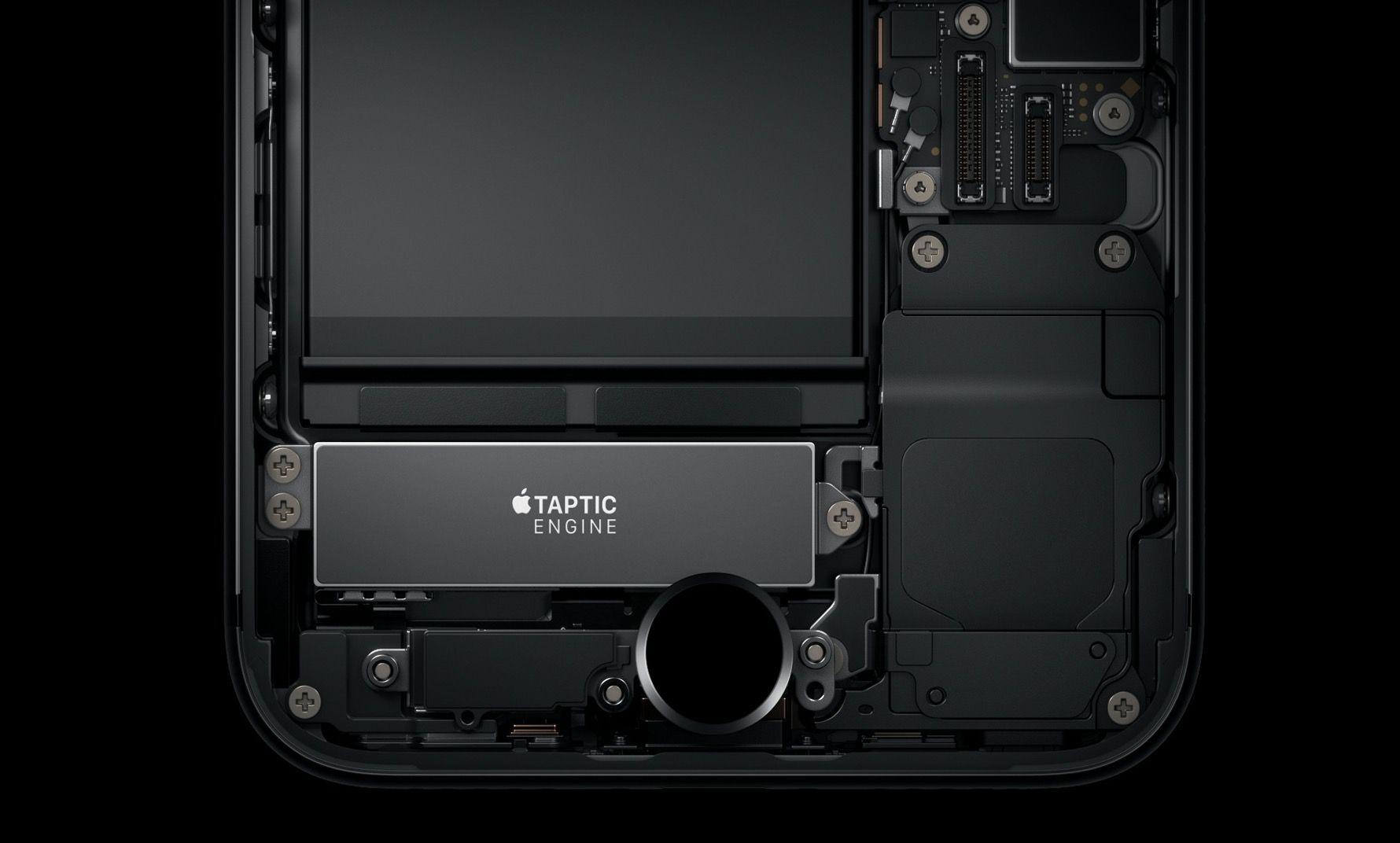 Taptic Engine no interior de um iPhone com botão home