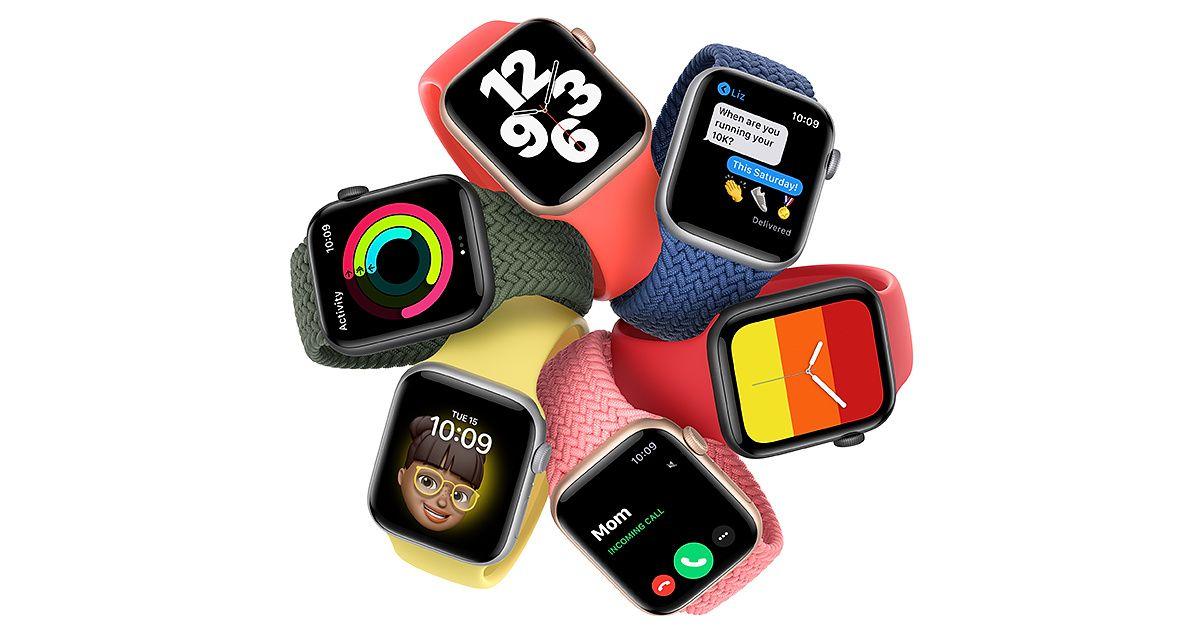 Múltiplas cores e braceletten do Apple Watch.