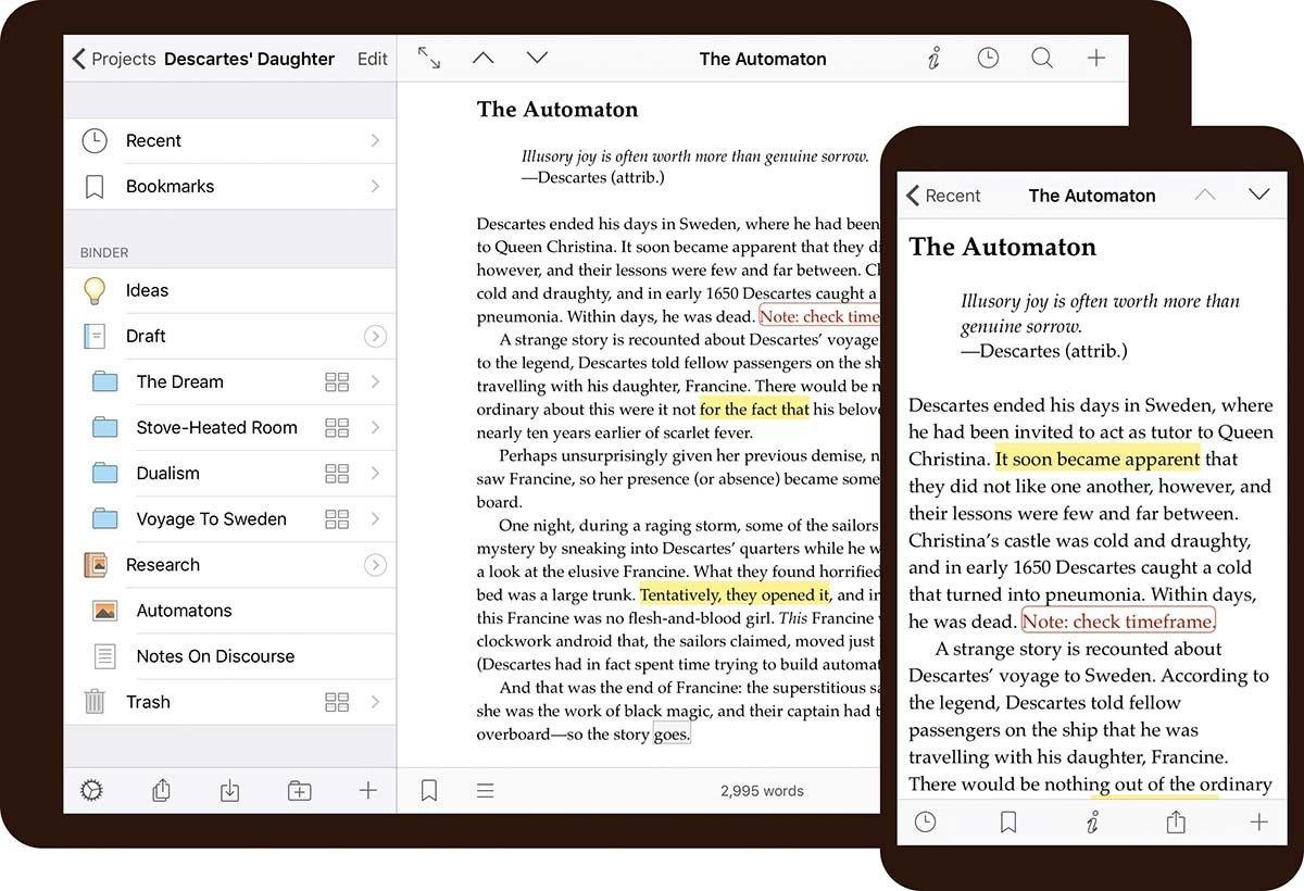 Scrivener para iPad
