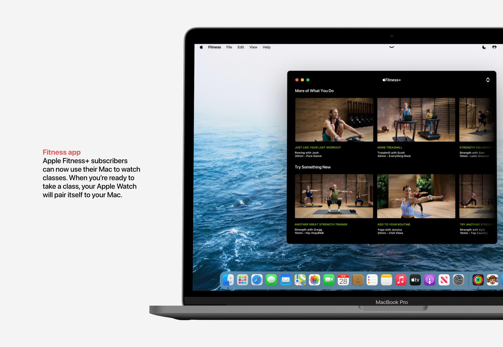 Aplicação Fitness no macOS Monterey