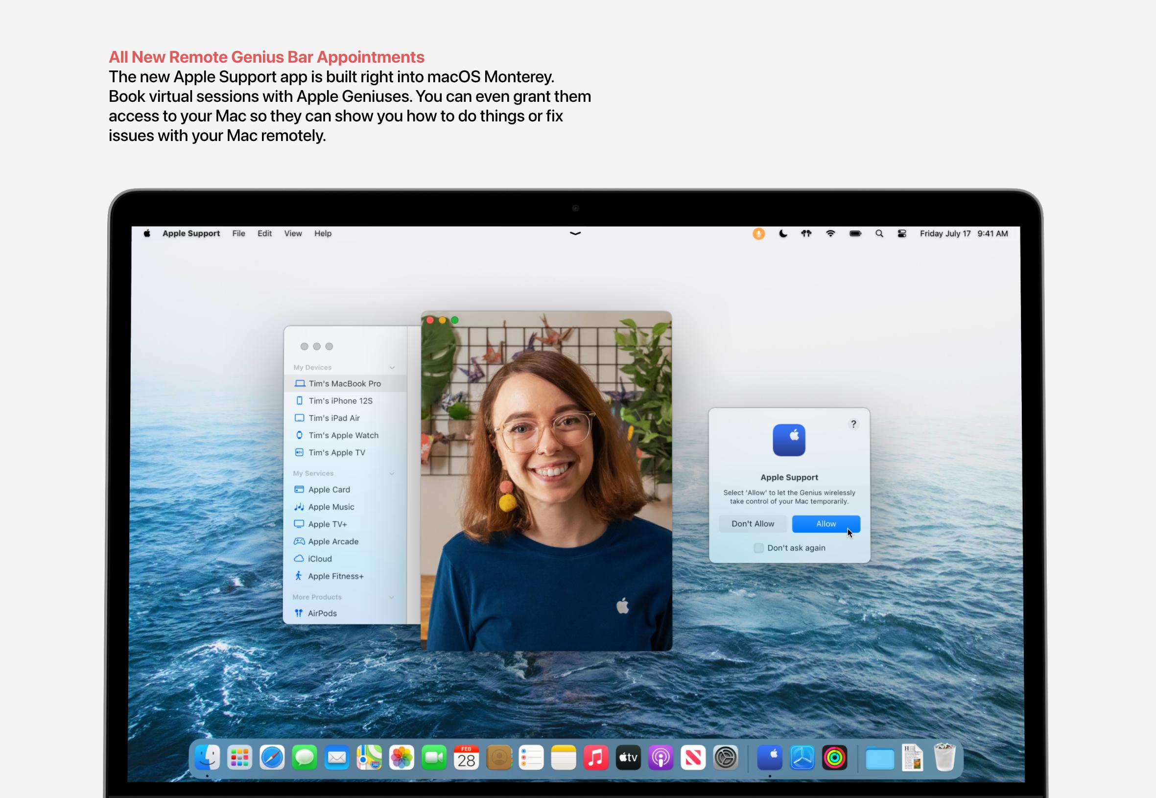 Aplicação Suporte no macOS Monterey