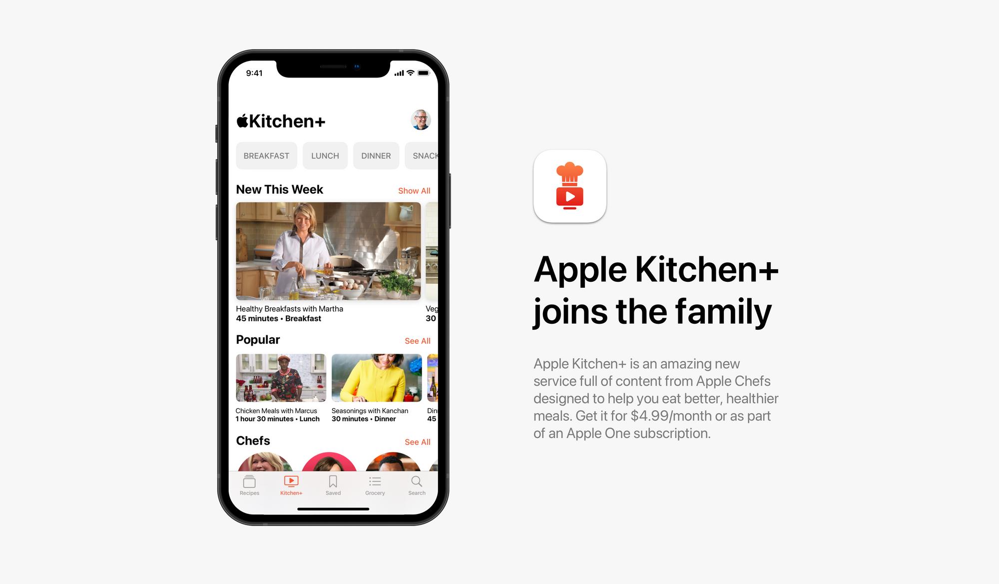 Secção de vídeos na Apple Kitchen
