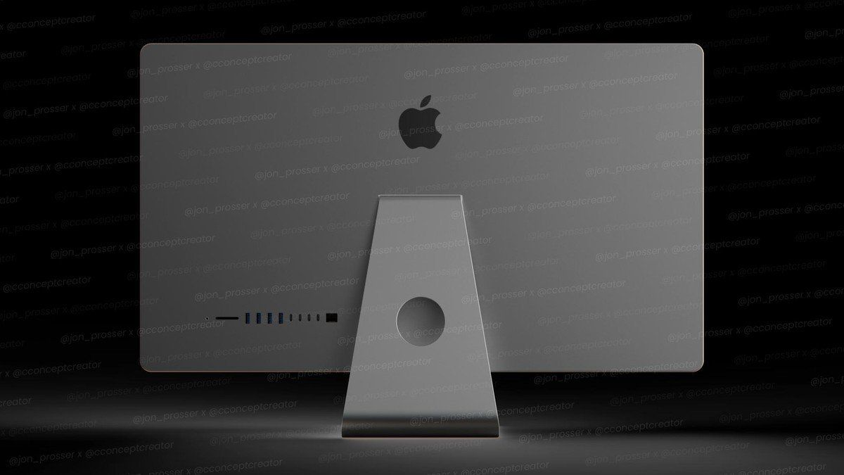 Traseira do iMac 2021 (fonte: Jon Prosser)