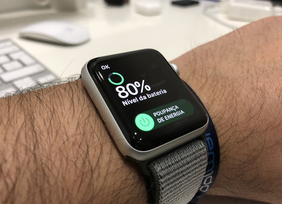 Poupança de energia no Apple Watch