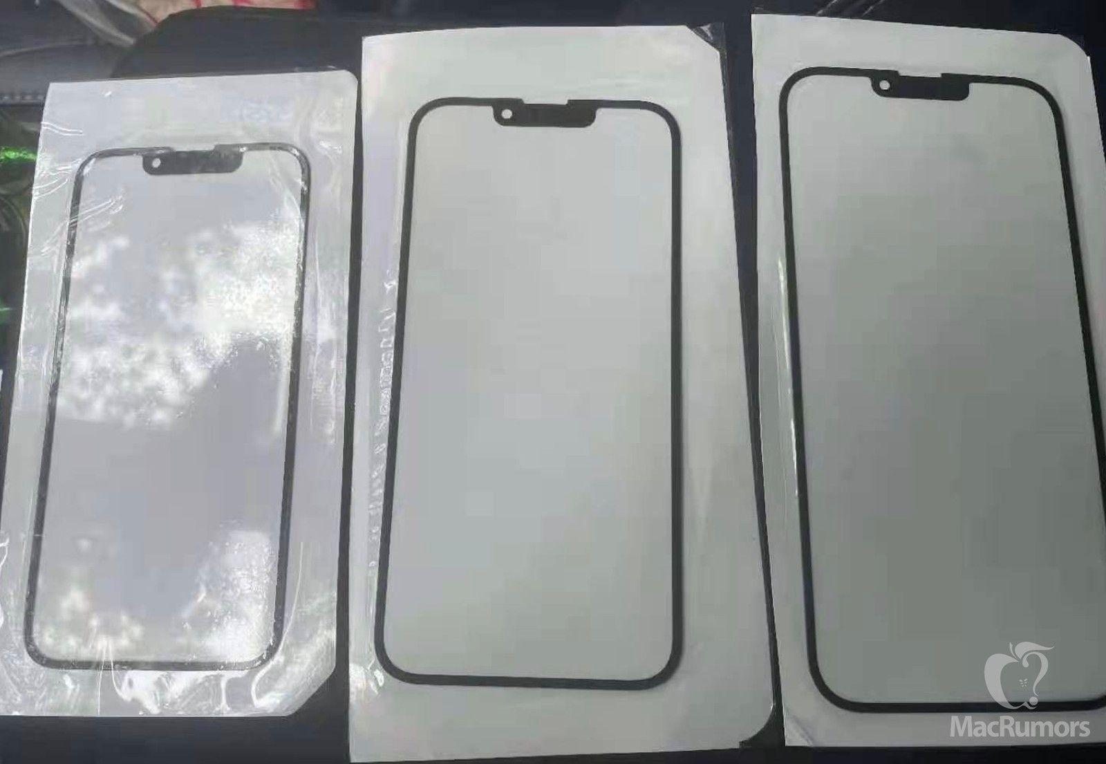 Imagem do alegado vidro do iPhone 13 (ou 12s) partilhada pela MacRumors