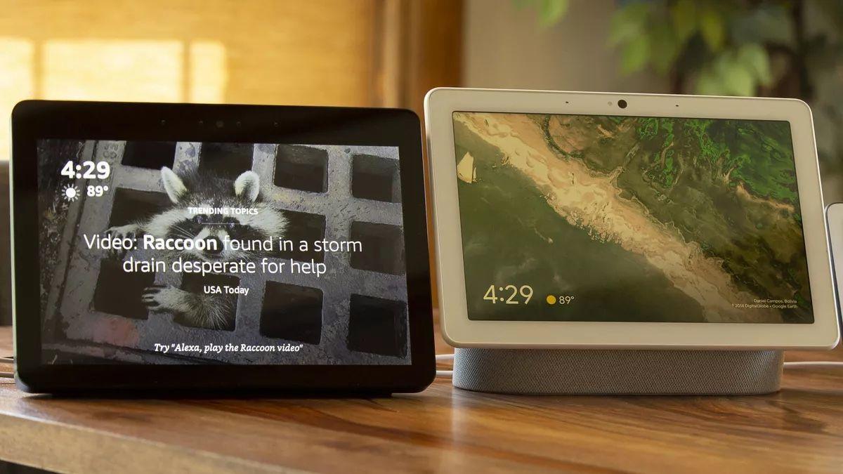 Amazon Echo Show e Google Nest Hub.