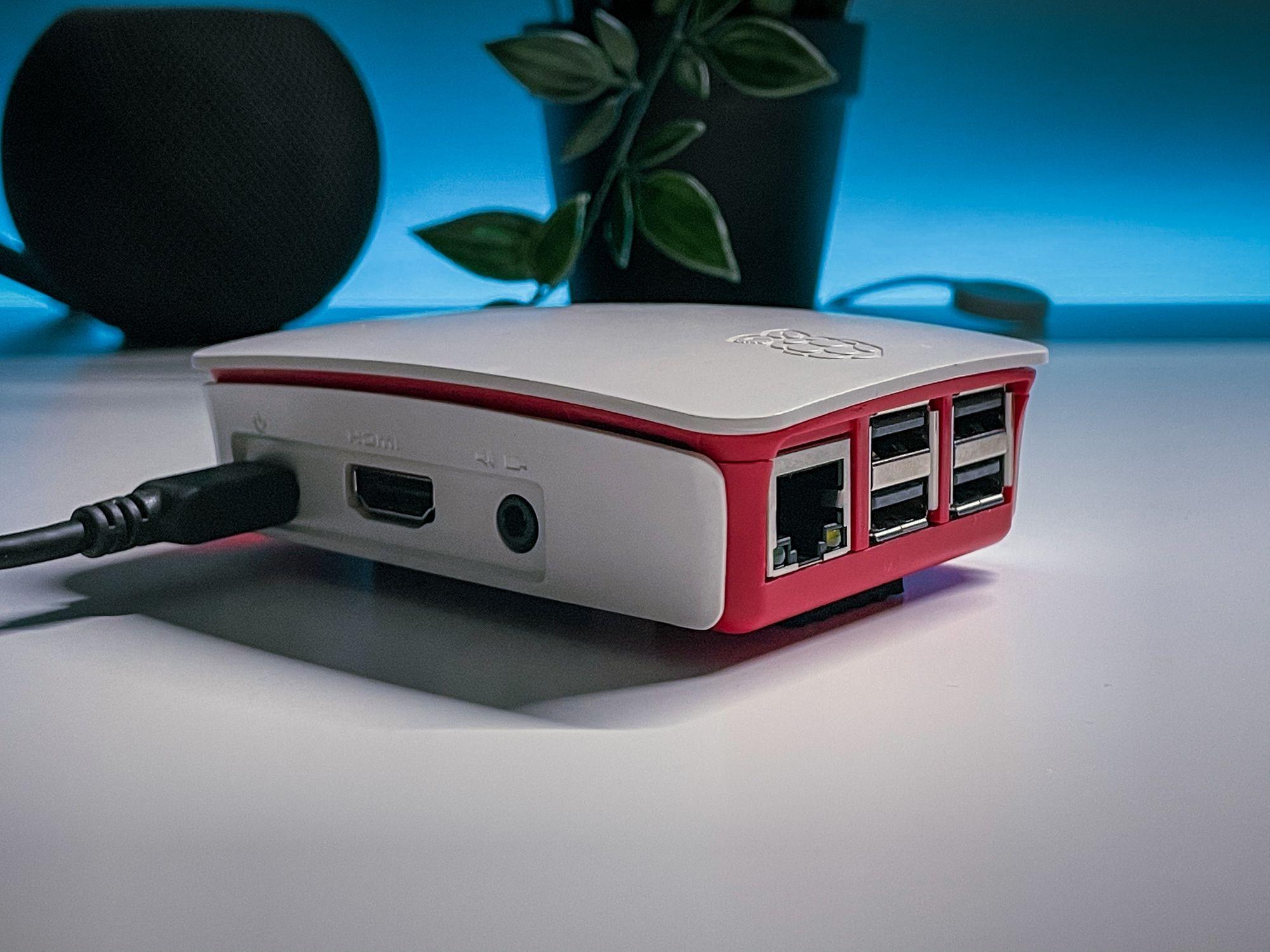 Raspberry Pi ligado à corrente Homebridge
