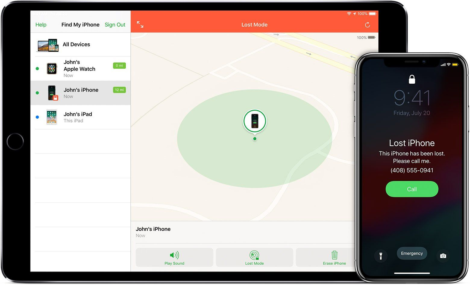 App Encontrar no iPhone e iPad