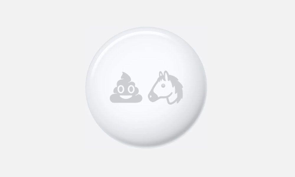 AirTag personalizada com Emojis