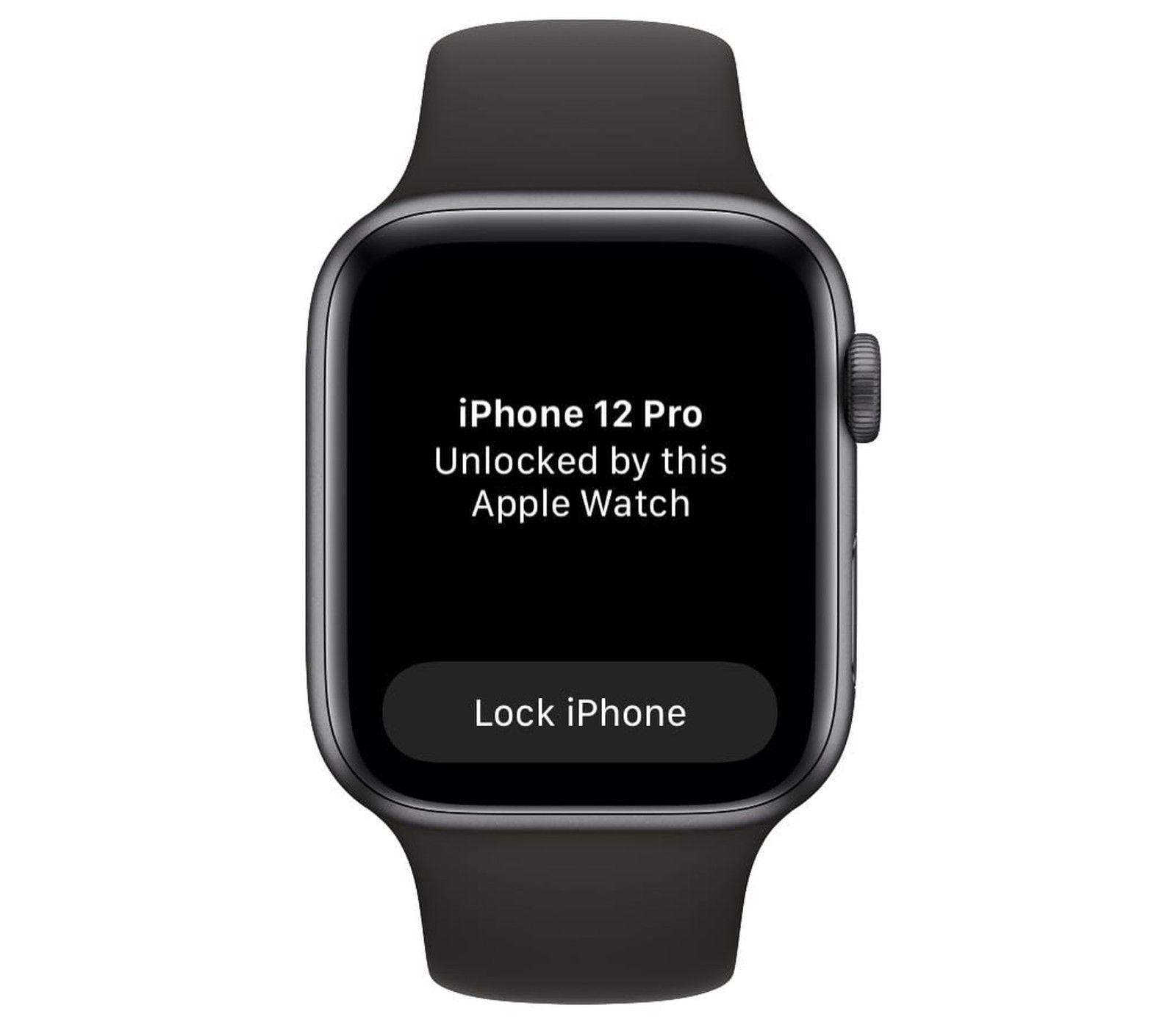 Notificação de desbloqueio do Apple Watch