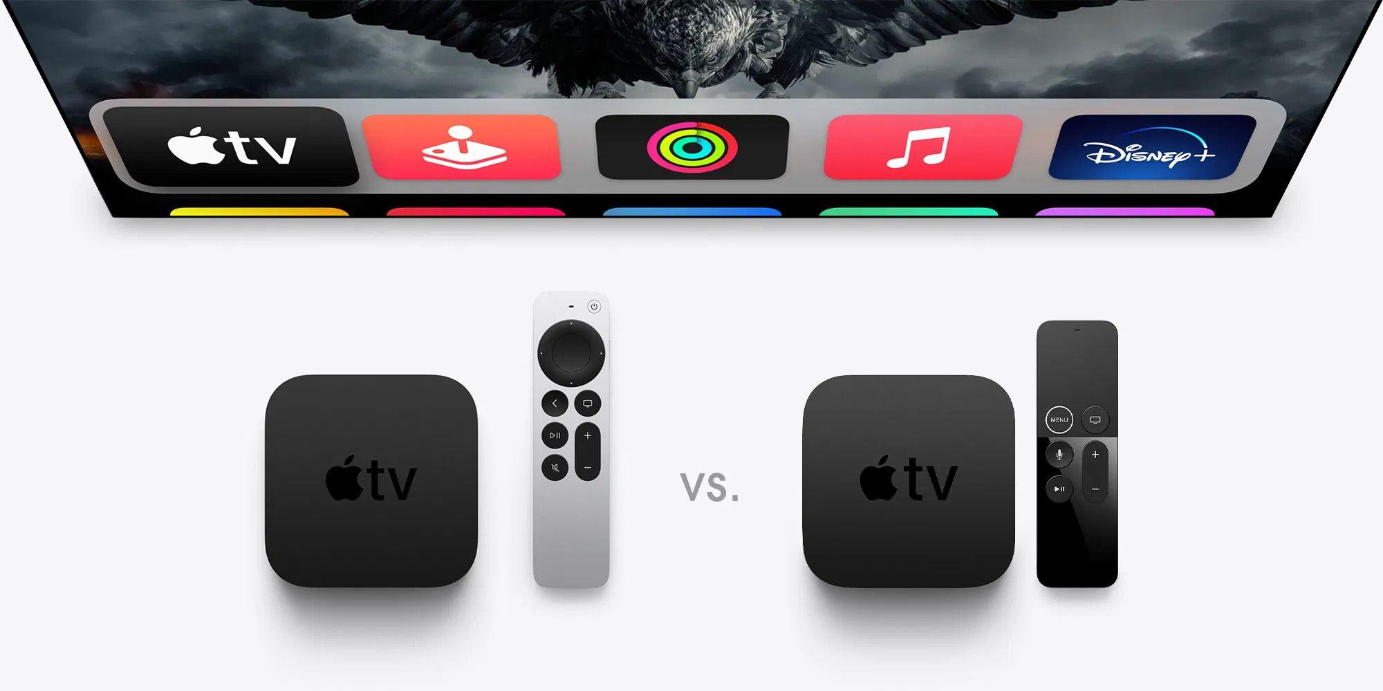Apple TV 4K 2021 (esquerda) vs. Apple TV 4K 2017 (direita)