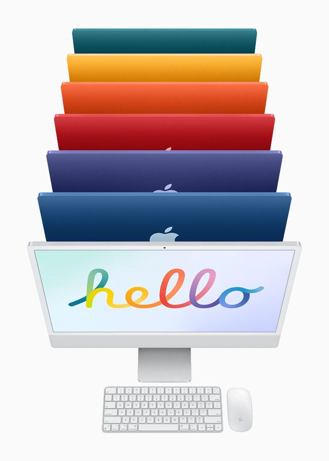 As várias cores do iMac M1