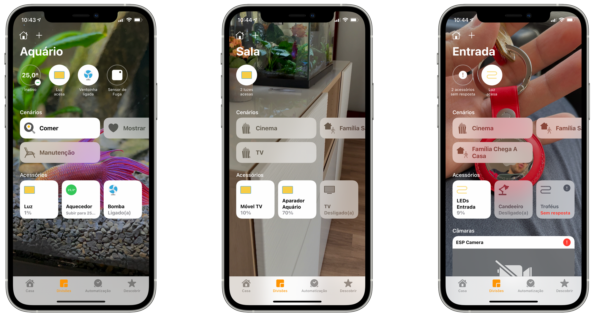 Aplicação Casa no iOS 14 HomeKit