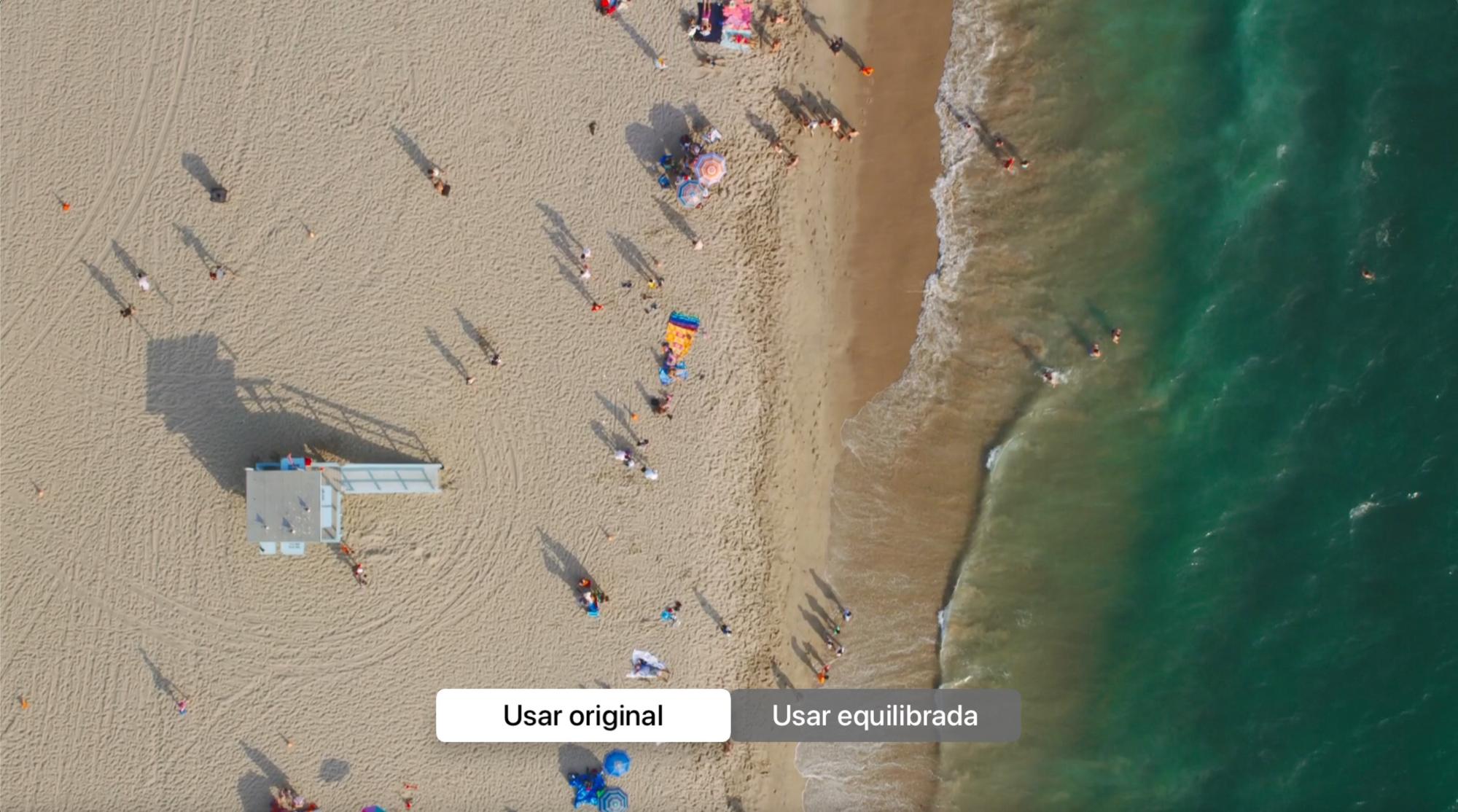 Usar imagem original ou equilibrada na Apple TV