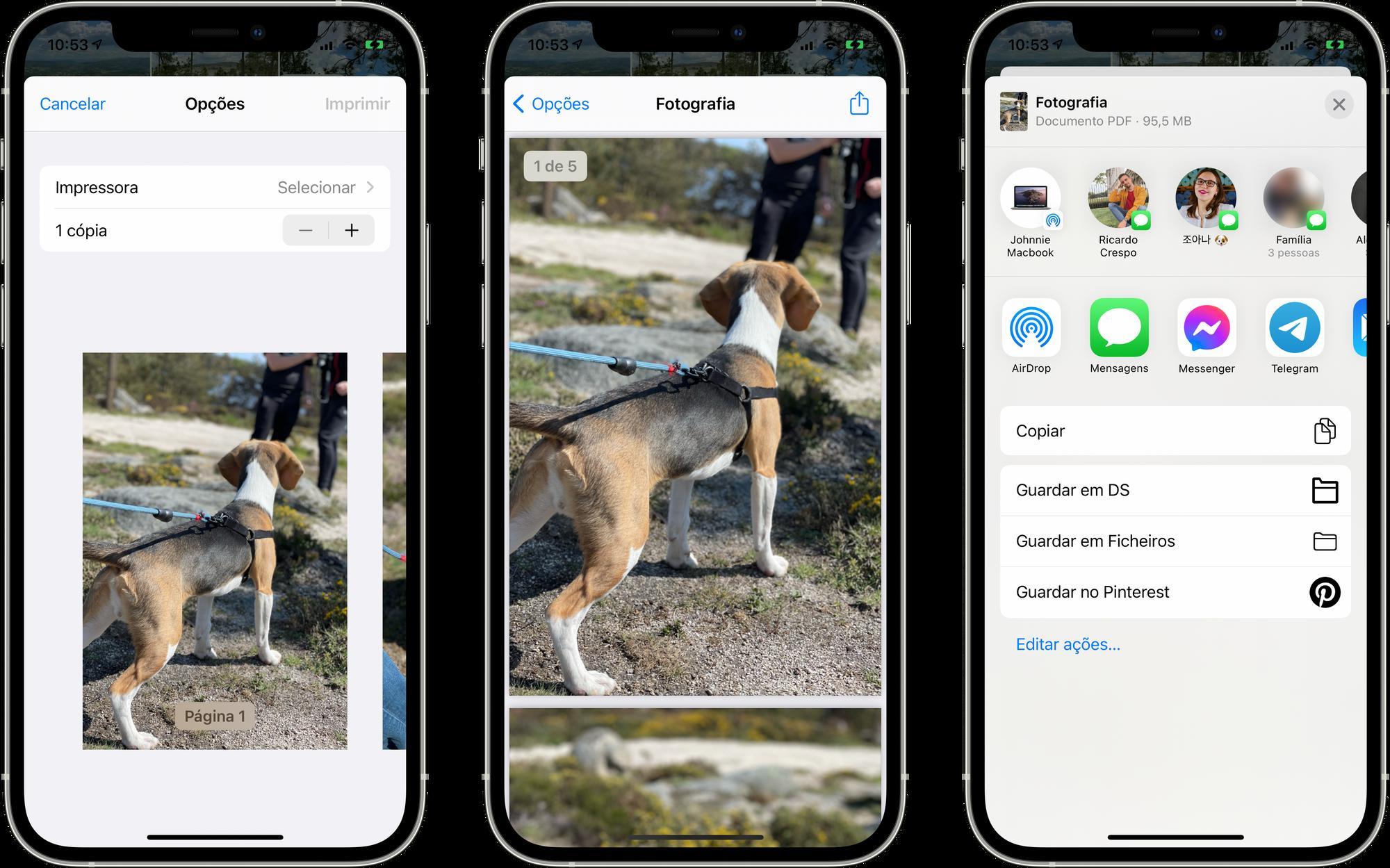 Criar um documento PDF através de fotografias iPhone e iPad