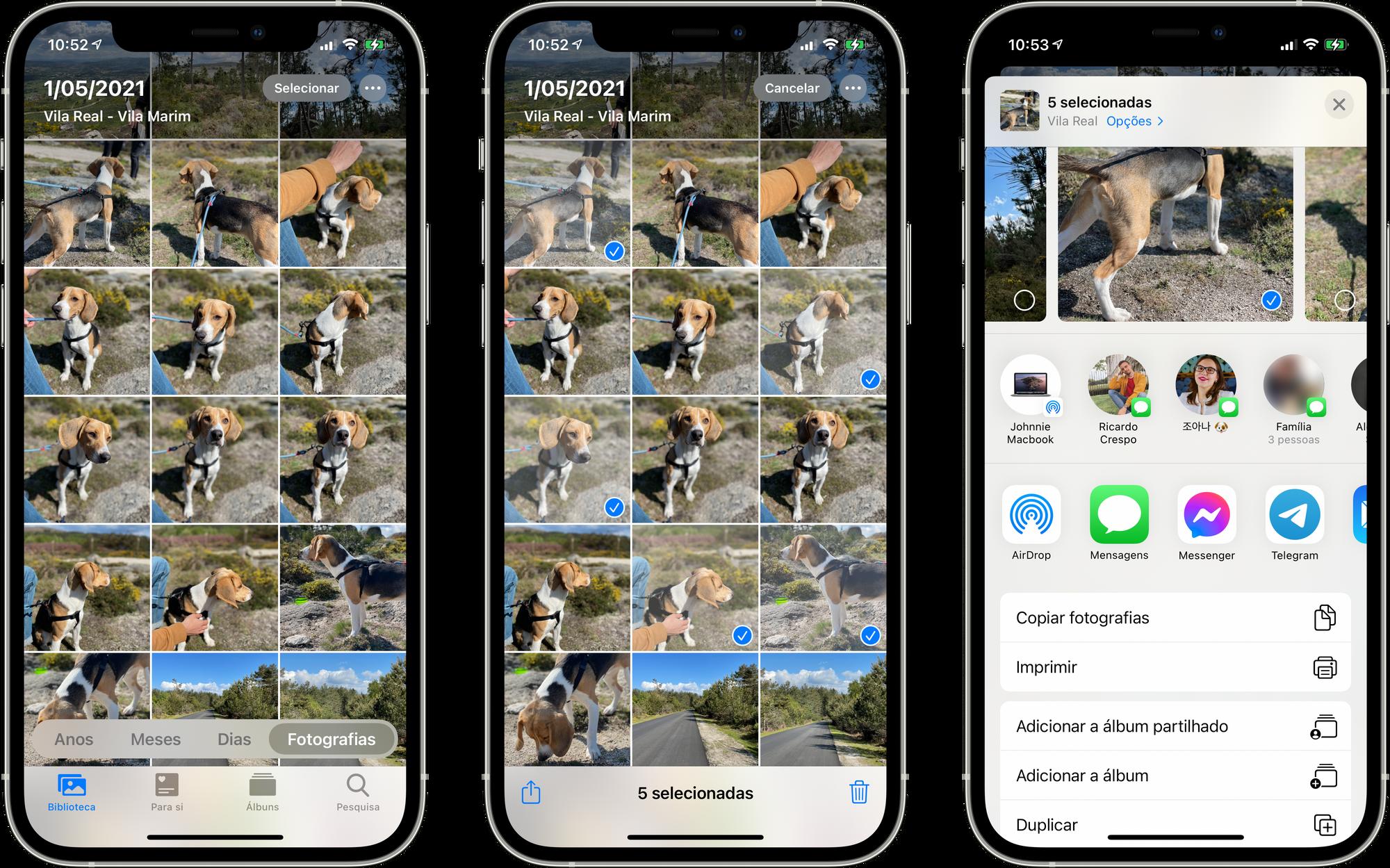 Imprimir fotografias através do iPhone ou iPad