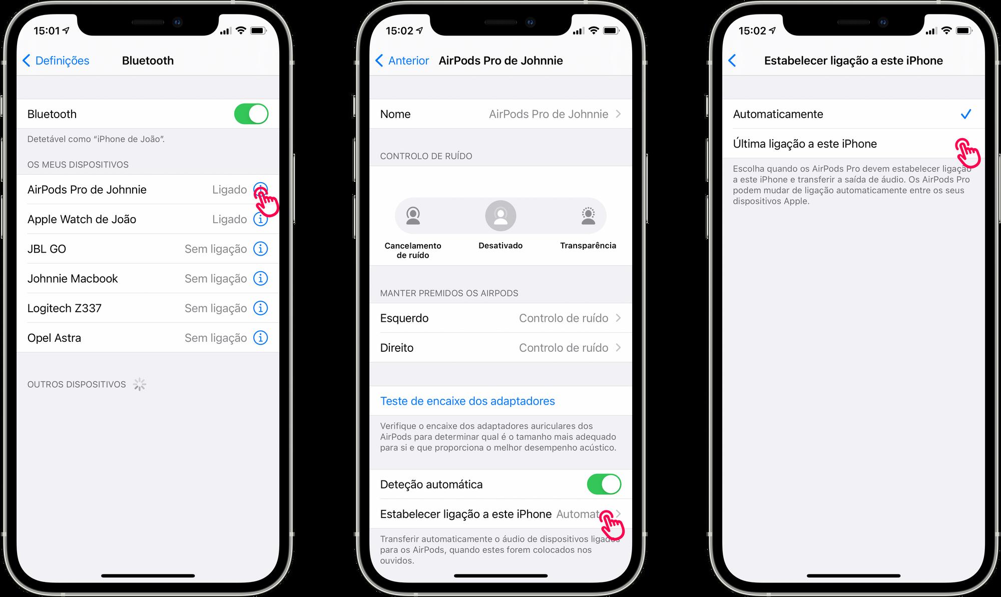 Desativar a trocar automática dos AirPods no iOS/iPadOS 14