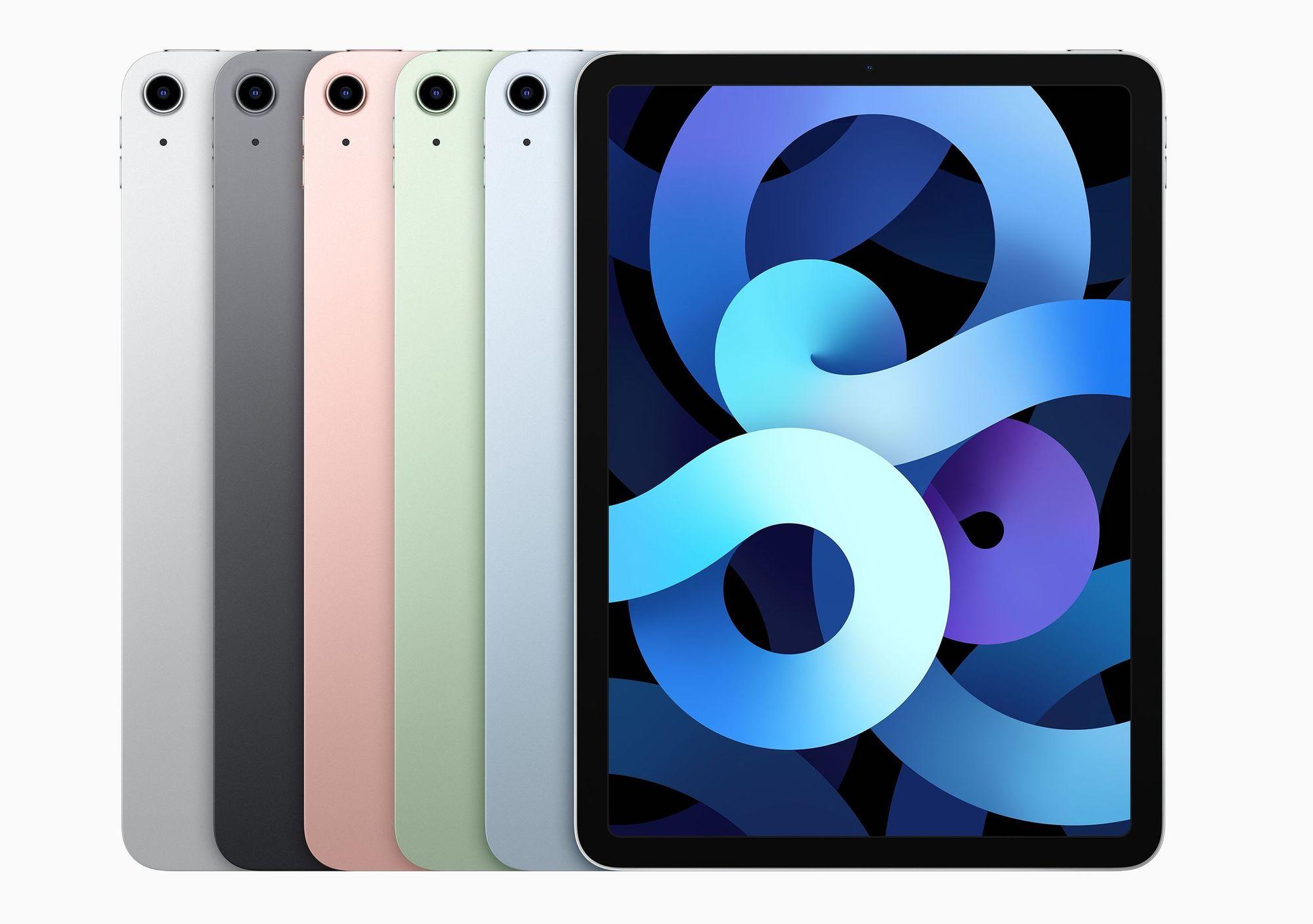 Múltiplas cores do iPad Air 2020