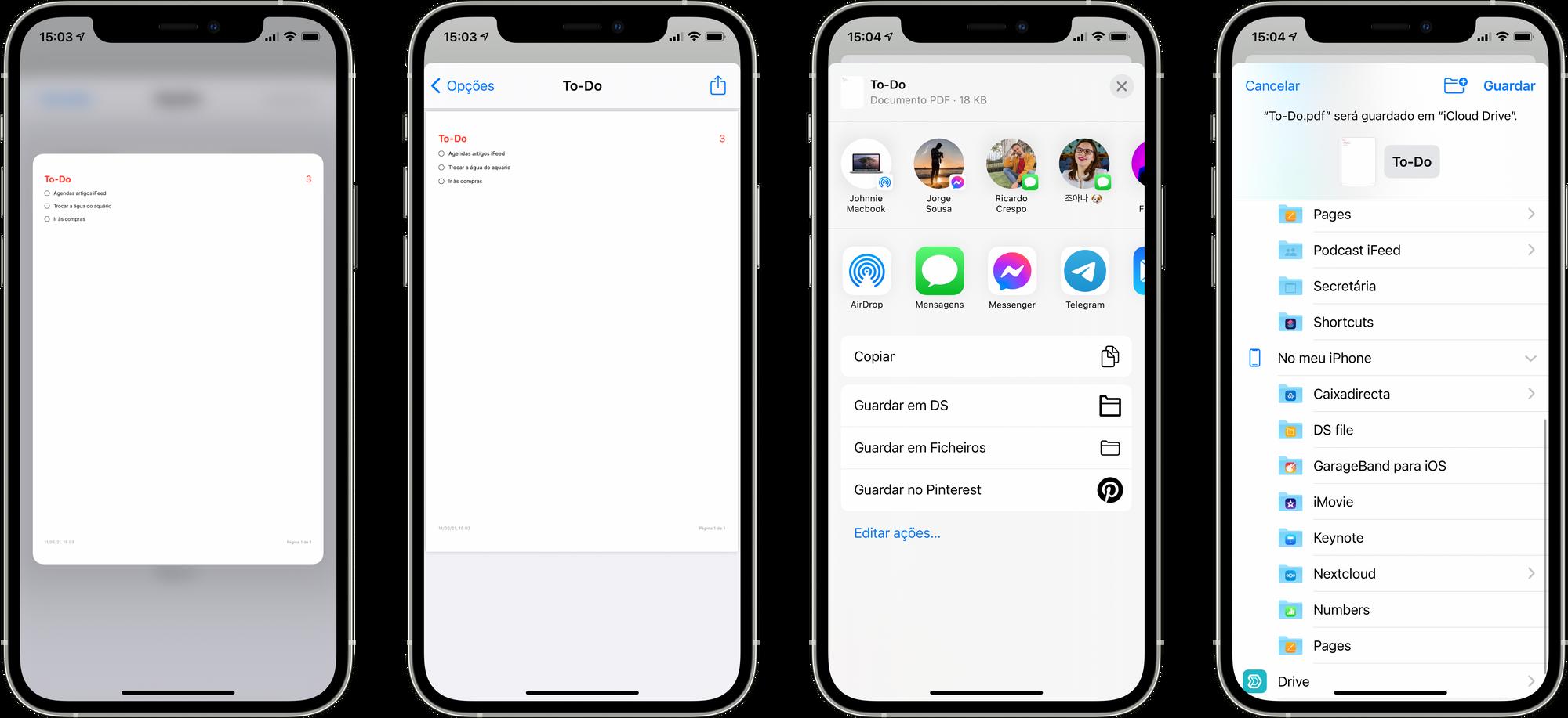 Guardar Lembretes em PDF no iOS 14.5