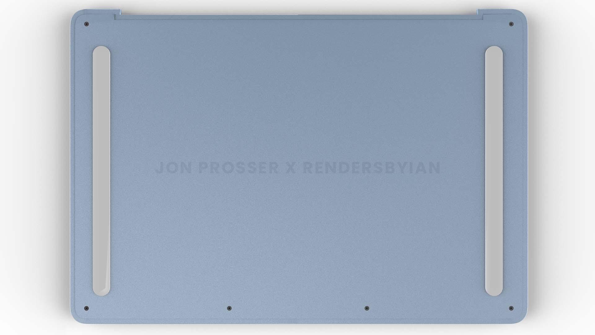 Parte inferior do novo MacBook Air com processador M2