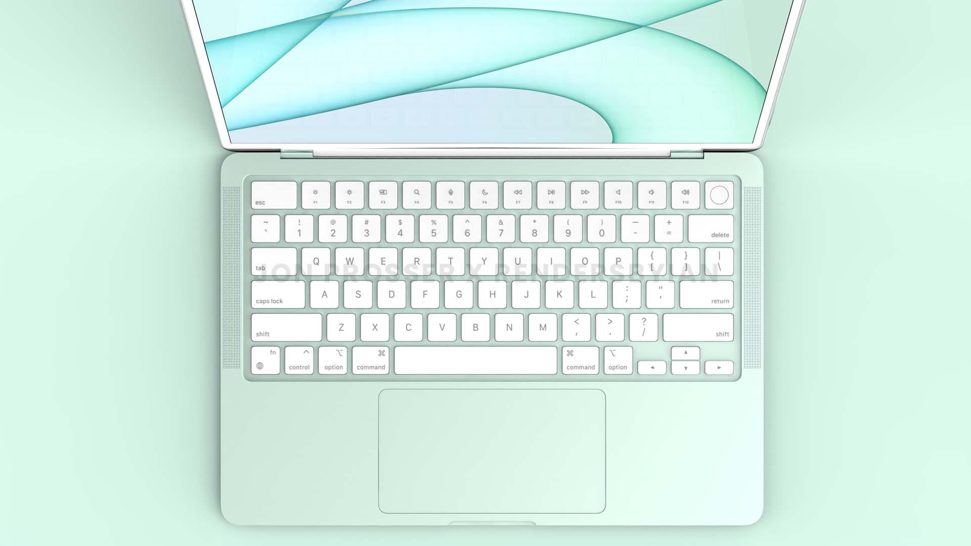 Teclado e Trackpad do futuro MacBook Air com processador M2