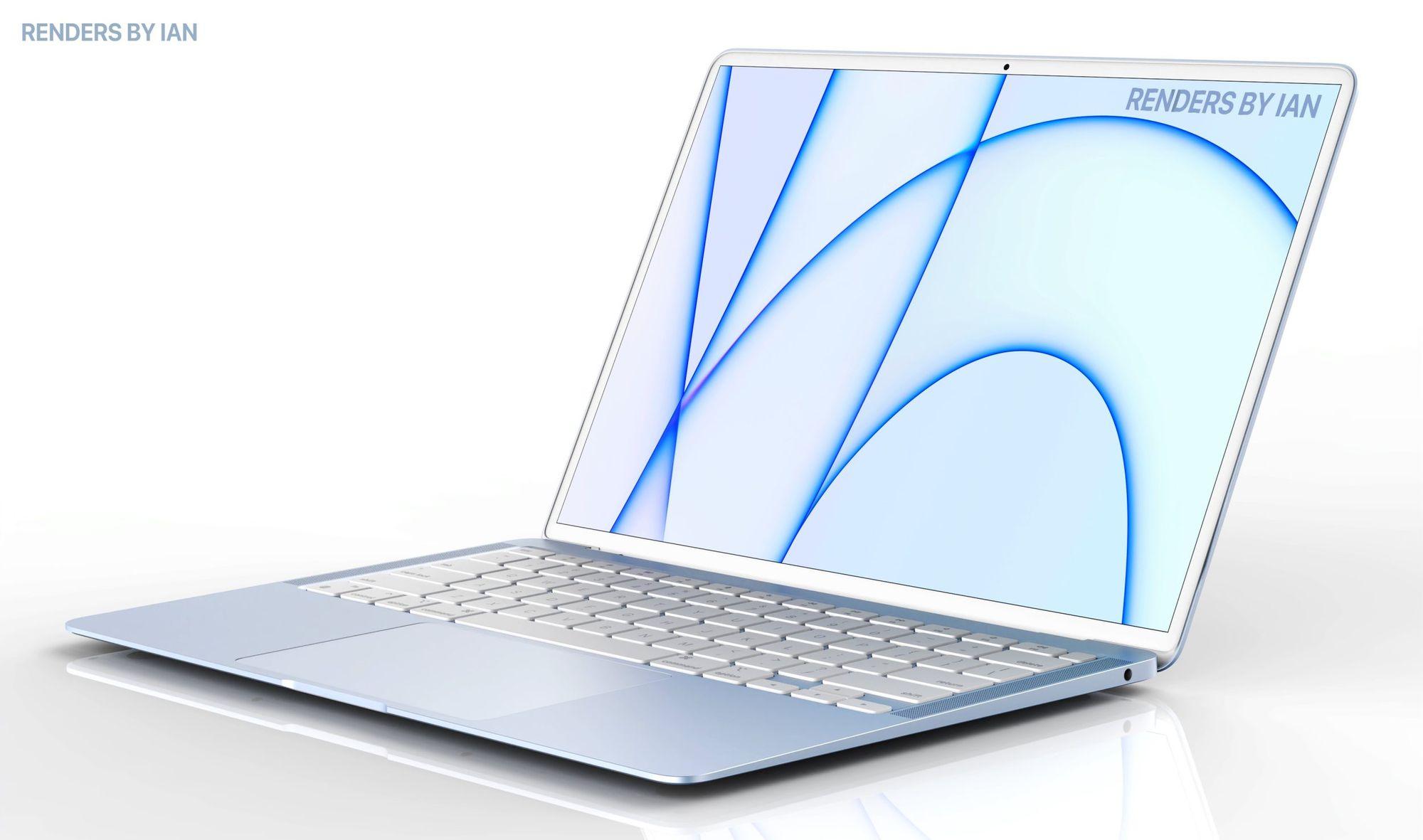 Conceito de MacBook Air estilizado com base nos atuais iMac. Imagem de Ian Zelbo