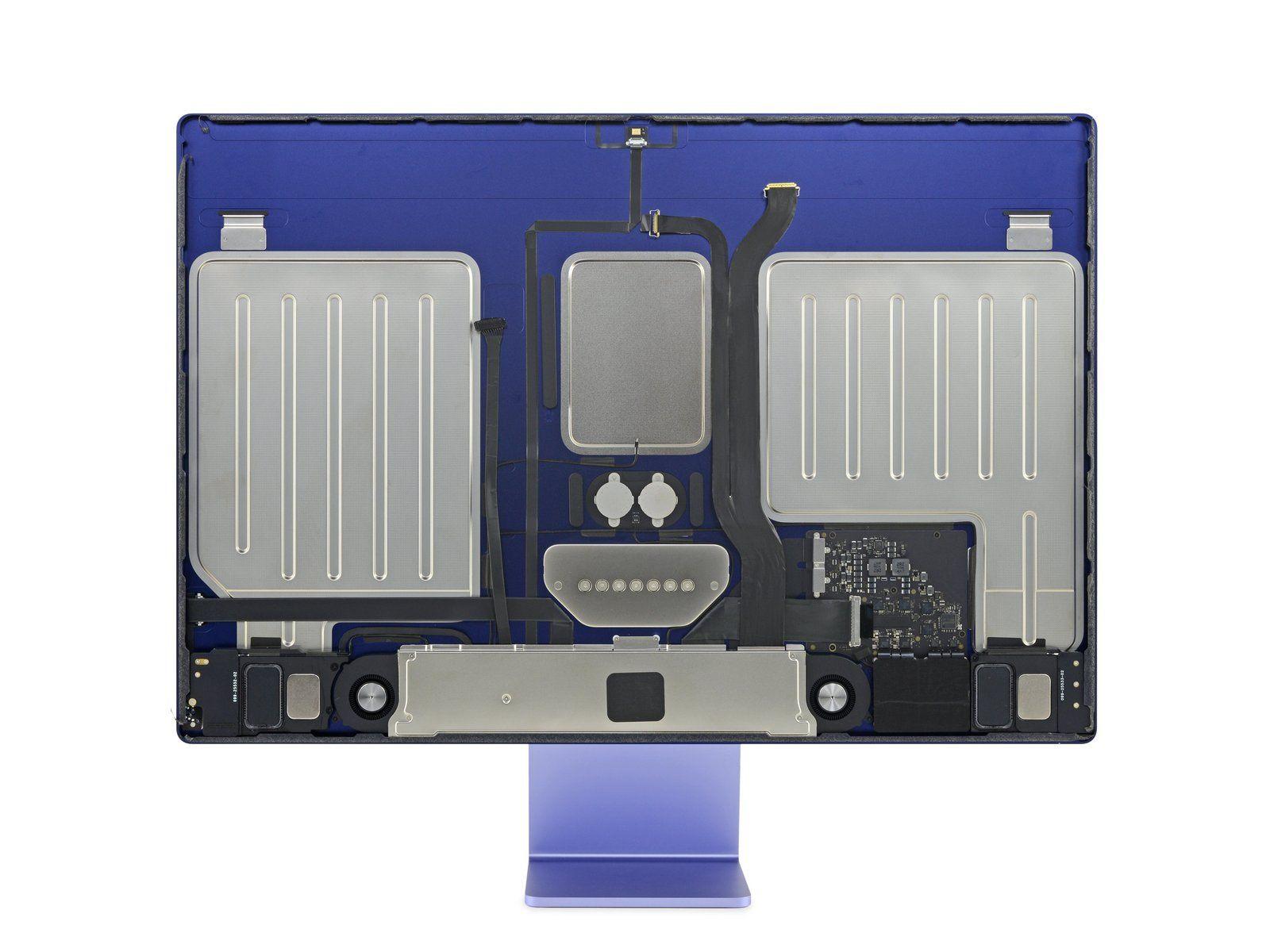 Interior do iMac M1 da Apple.