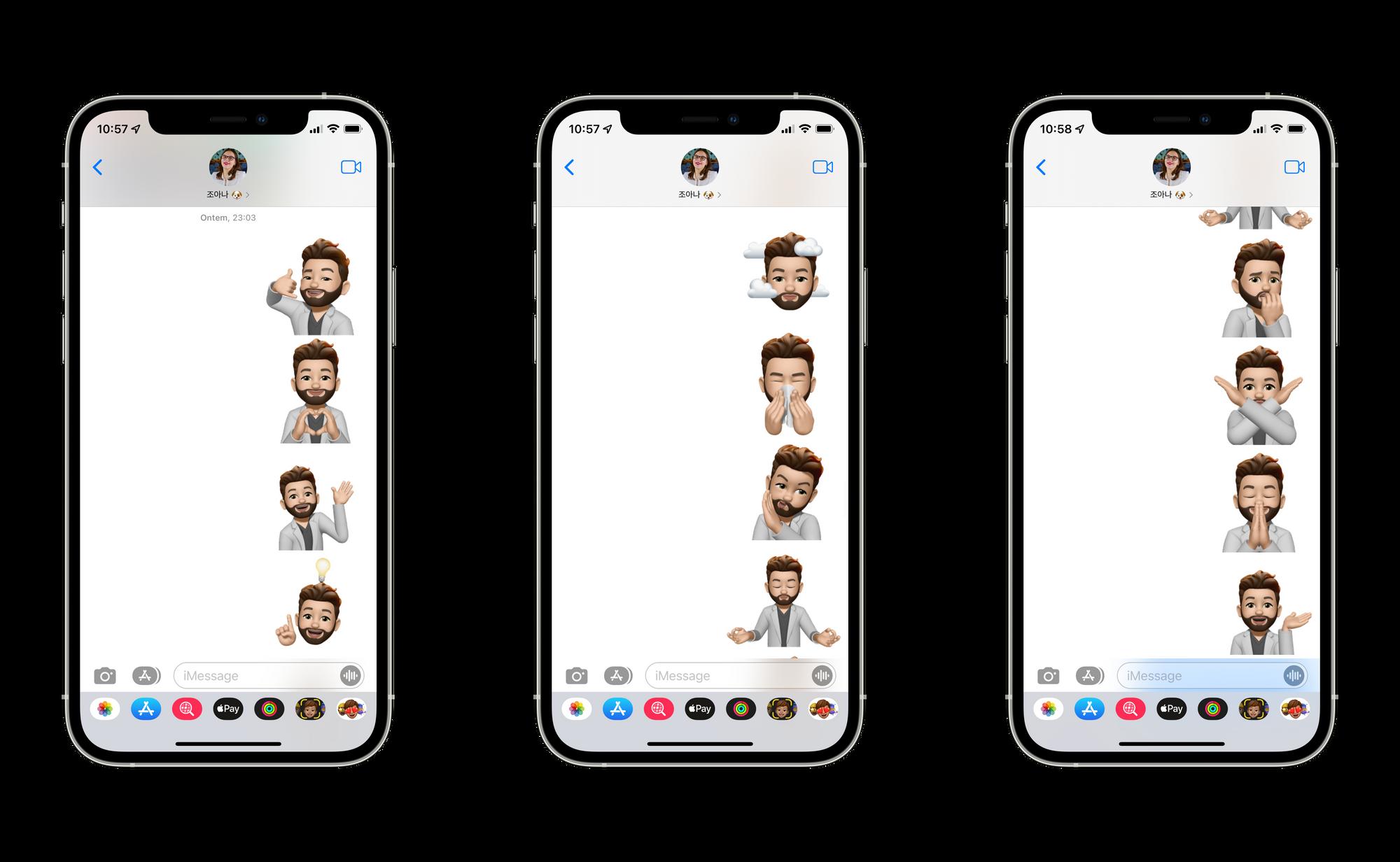 Novos Memojis stickers no iOS 15 beta 2