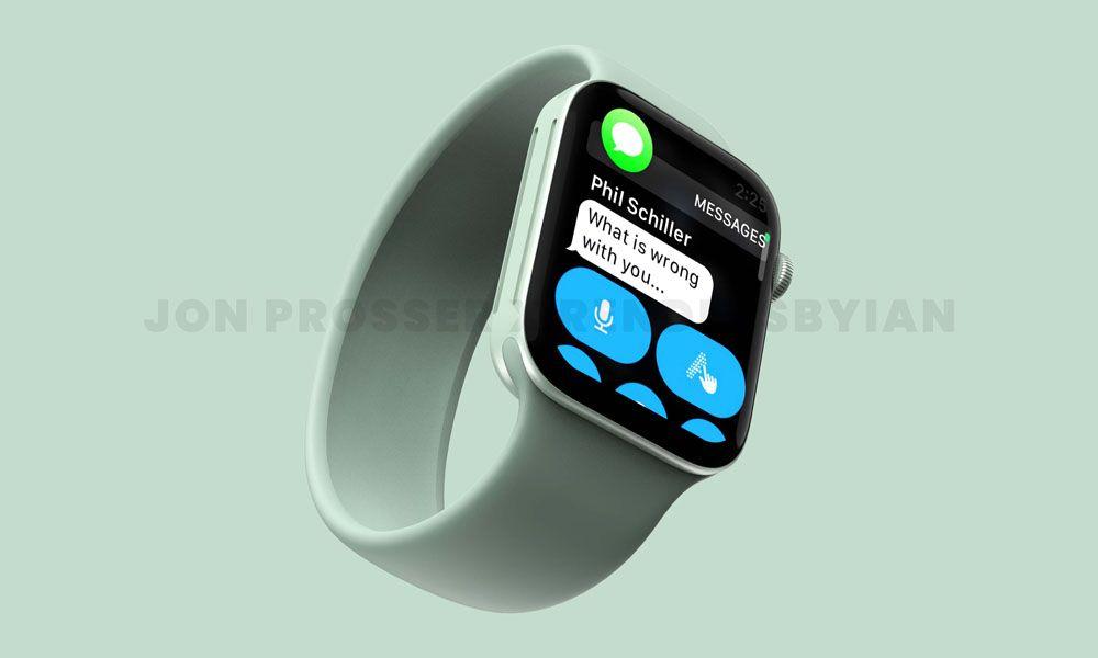 Mockup de como poderá vir a ser o Apple Watch 7