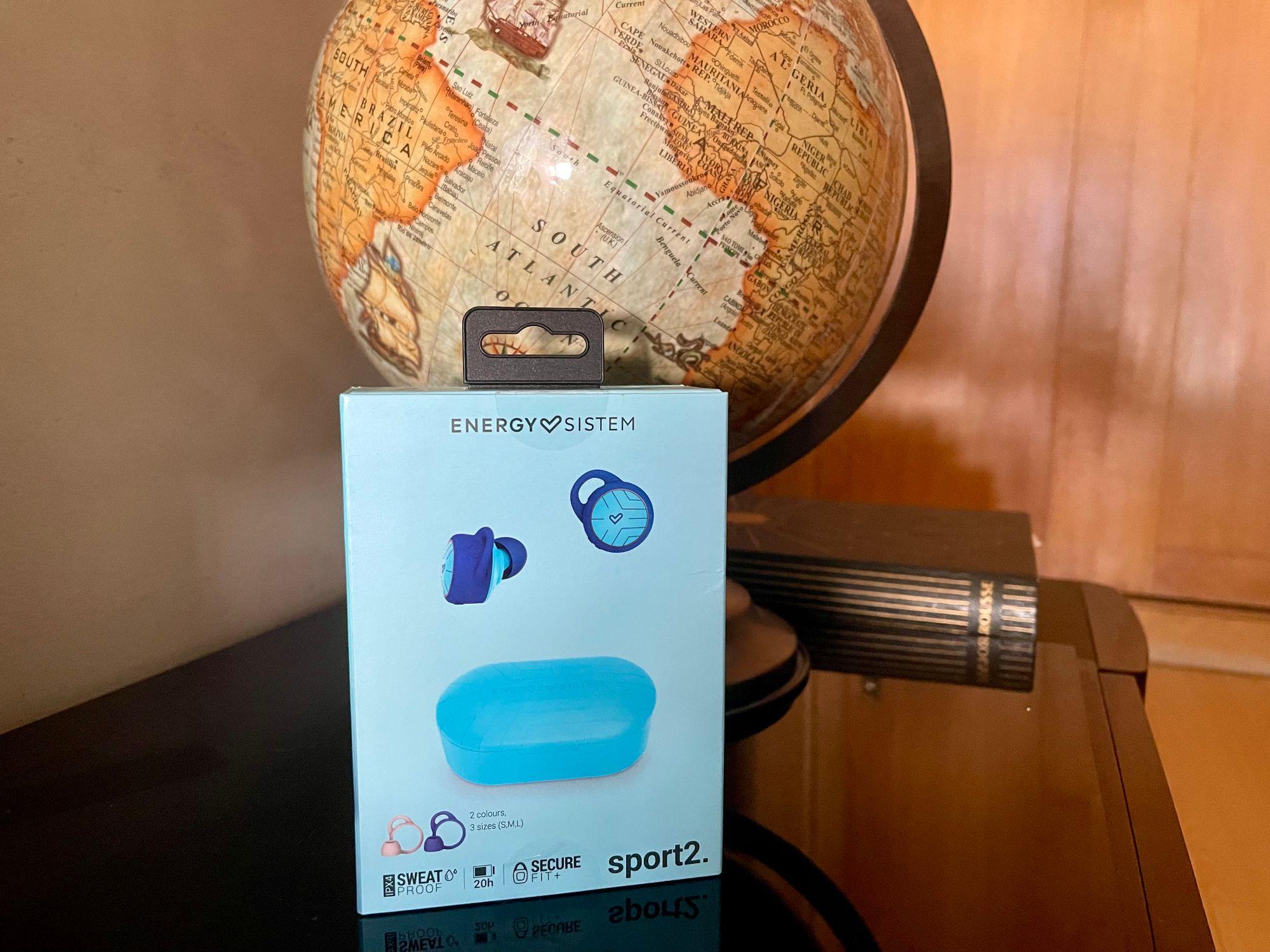 Apresentação da caixa dos Sport 2 True Wireless da Energy Sistem