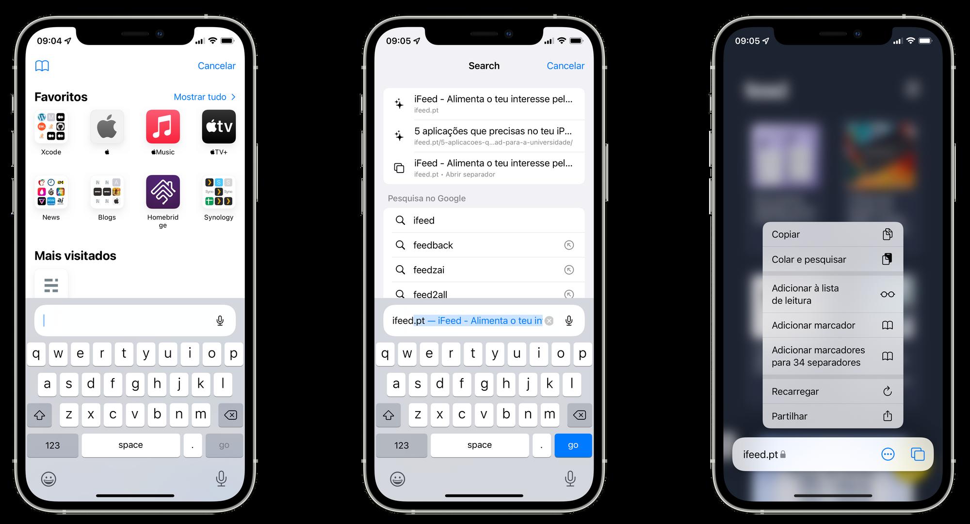 Safari no iOS 15 beta 3