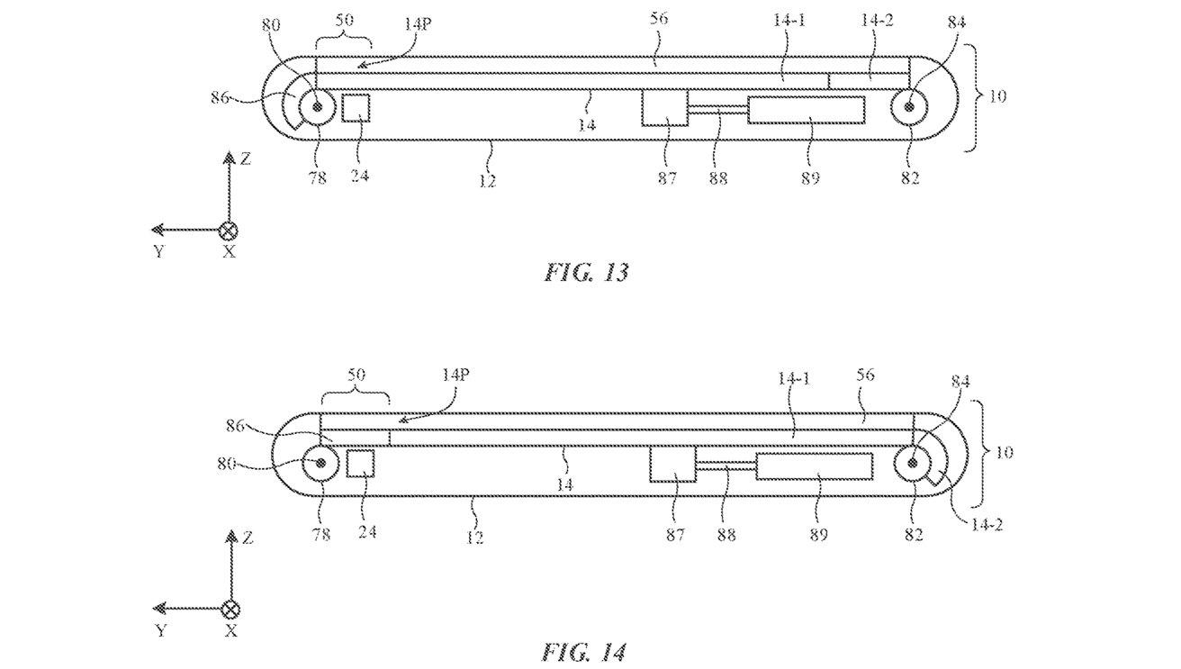 Possíveis implementações da patente para esconder a câmara debaixo do ecrã