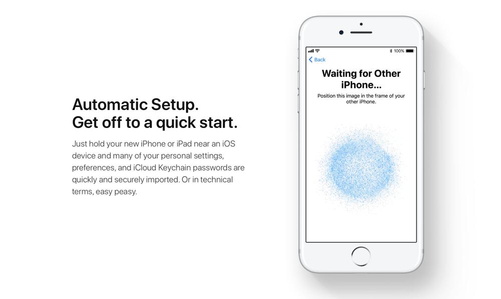 Setup automático Apple | Fonte: iPhone in Canada